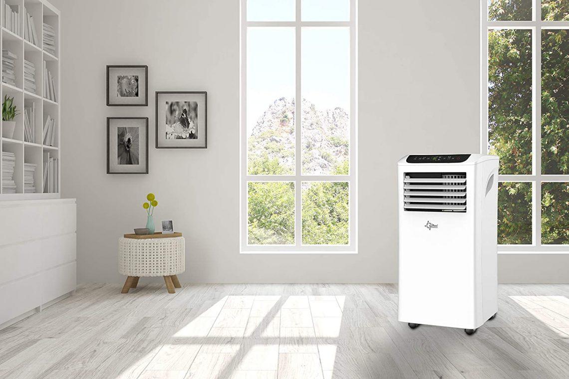 Climatiseur Mobile Suntec CoolFixx 2.6 Eco R290 9000 BTU en situation