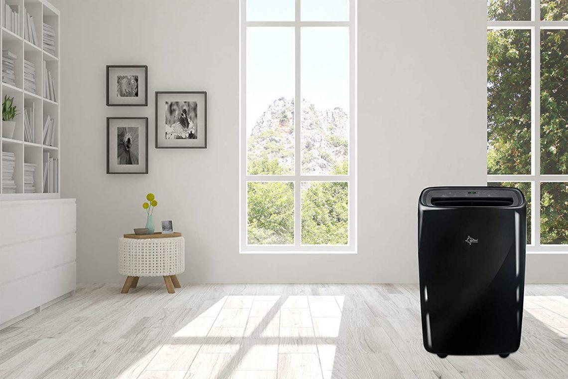 SUNTEC climatiseur local mobile PROGRESS 9.000 Eco R290 dans une grande pièce
