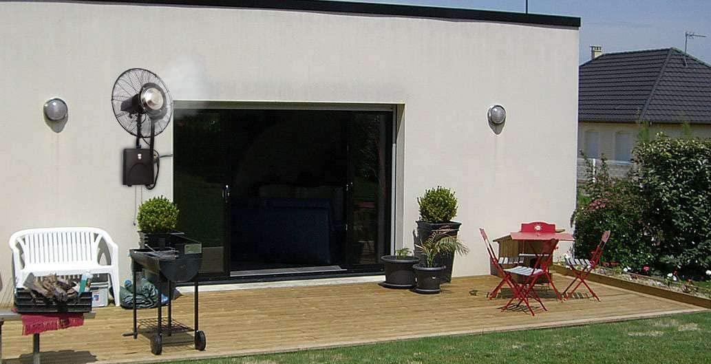 Ventilateur brumisateur Mural de terrasse Haute Performance Ofresh_